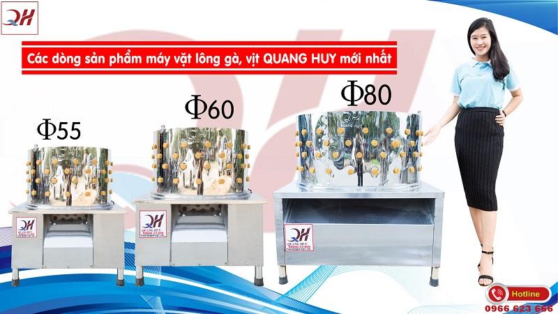Những mẫu máy vặt lông gà Quang Huy hiện có