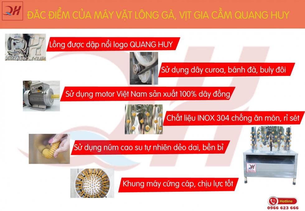 Đăc điểm nổi bật máy vặt lông gà vịt giá rẻ tại Quang Huy