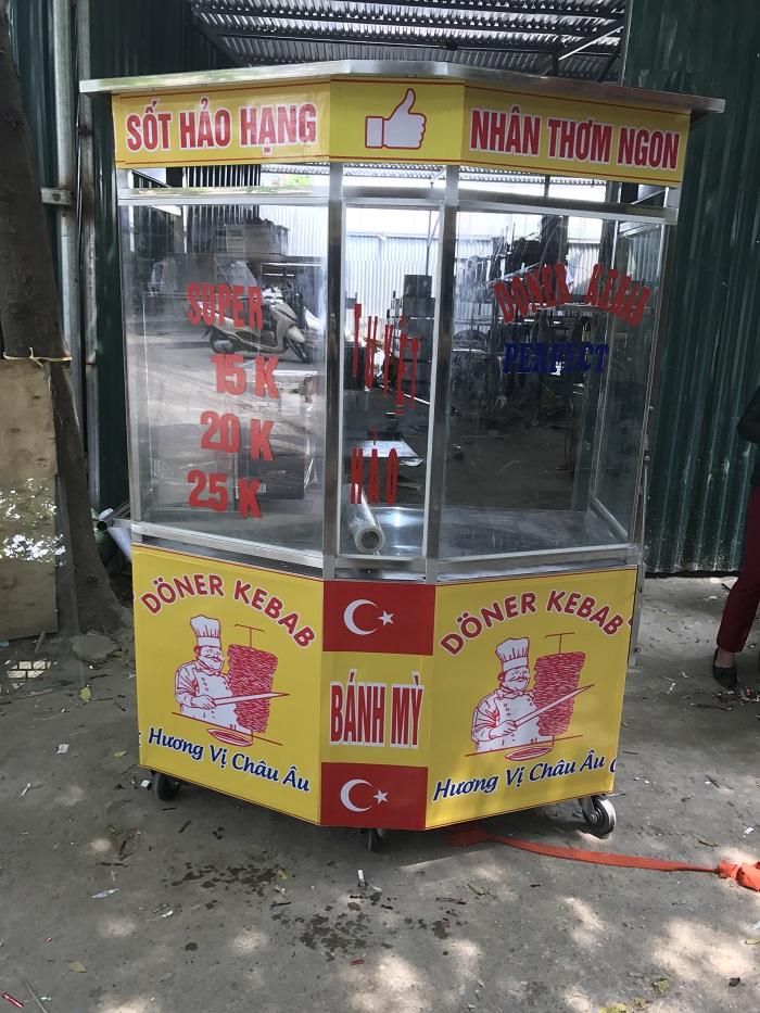xe lò nướng thịt bánh mì thổ nhĩ kỳ giá xưởng tại Hà Nội